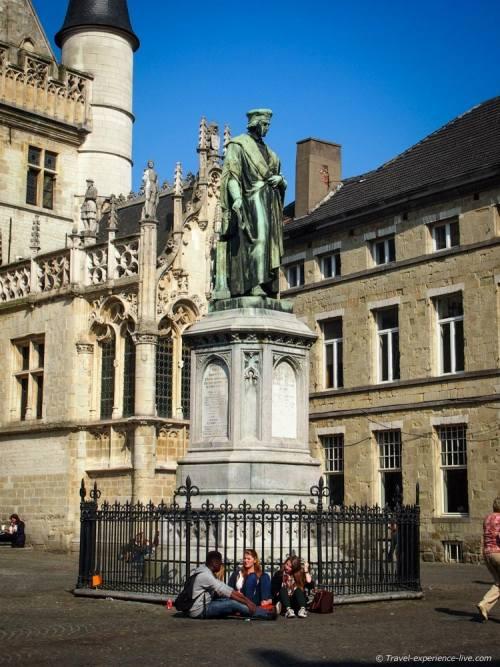 Dirk Martens statue in Aalst, Belgium