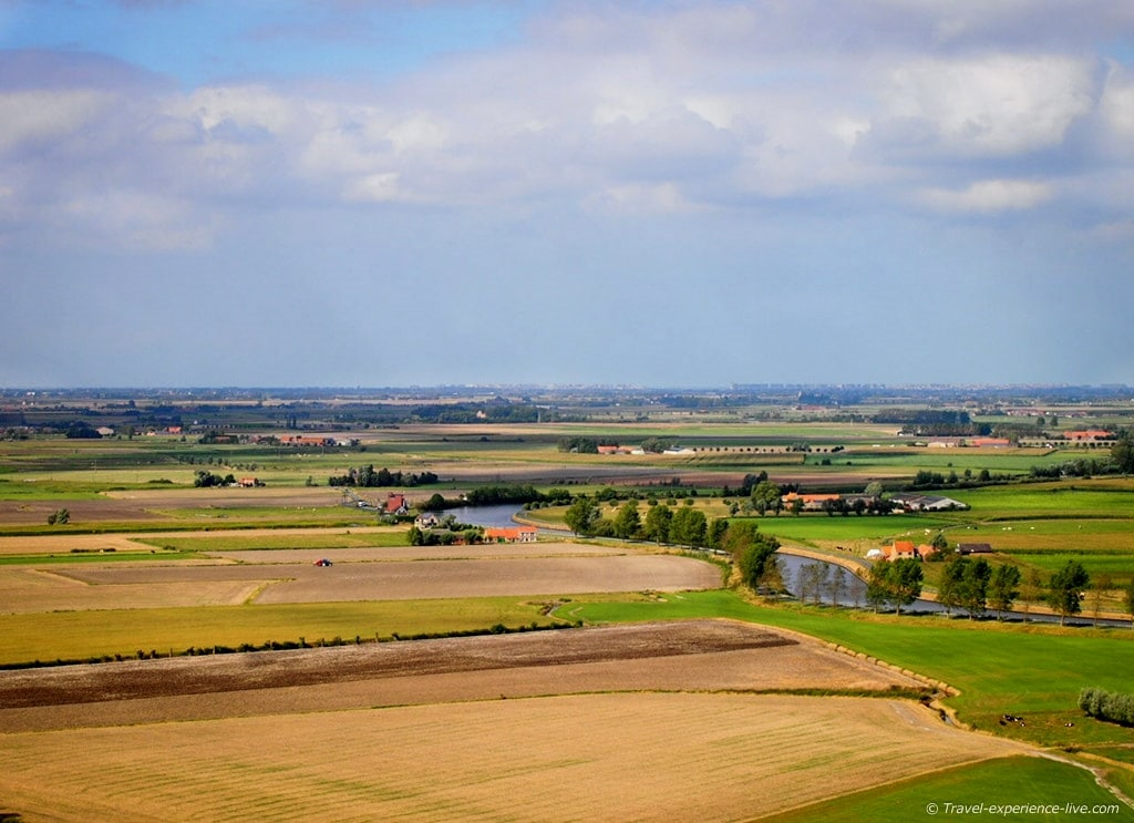 Flanders fields in Diksmuide, Belgium