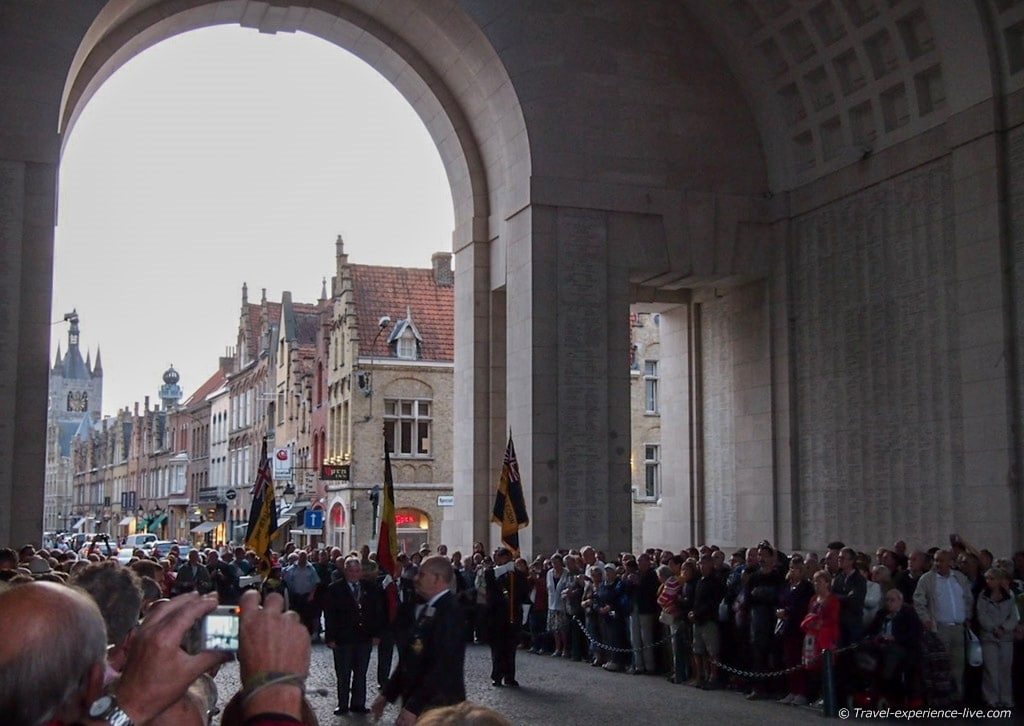 The Last Post underneath the Menin Gate in Ypres, Belgium
