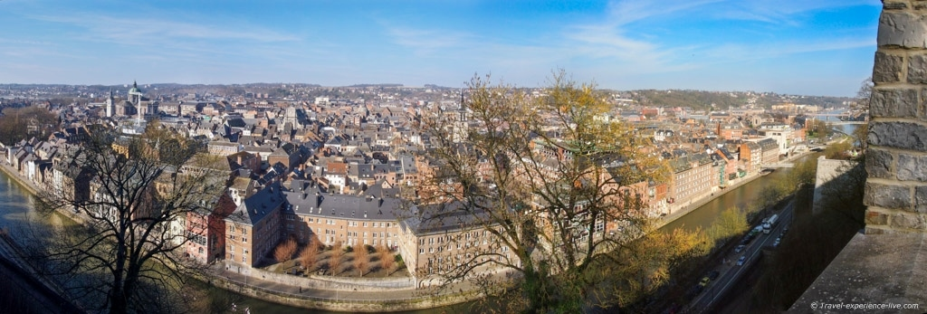 Panorama of Namur, Belgium