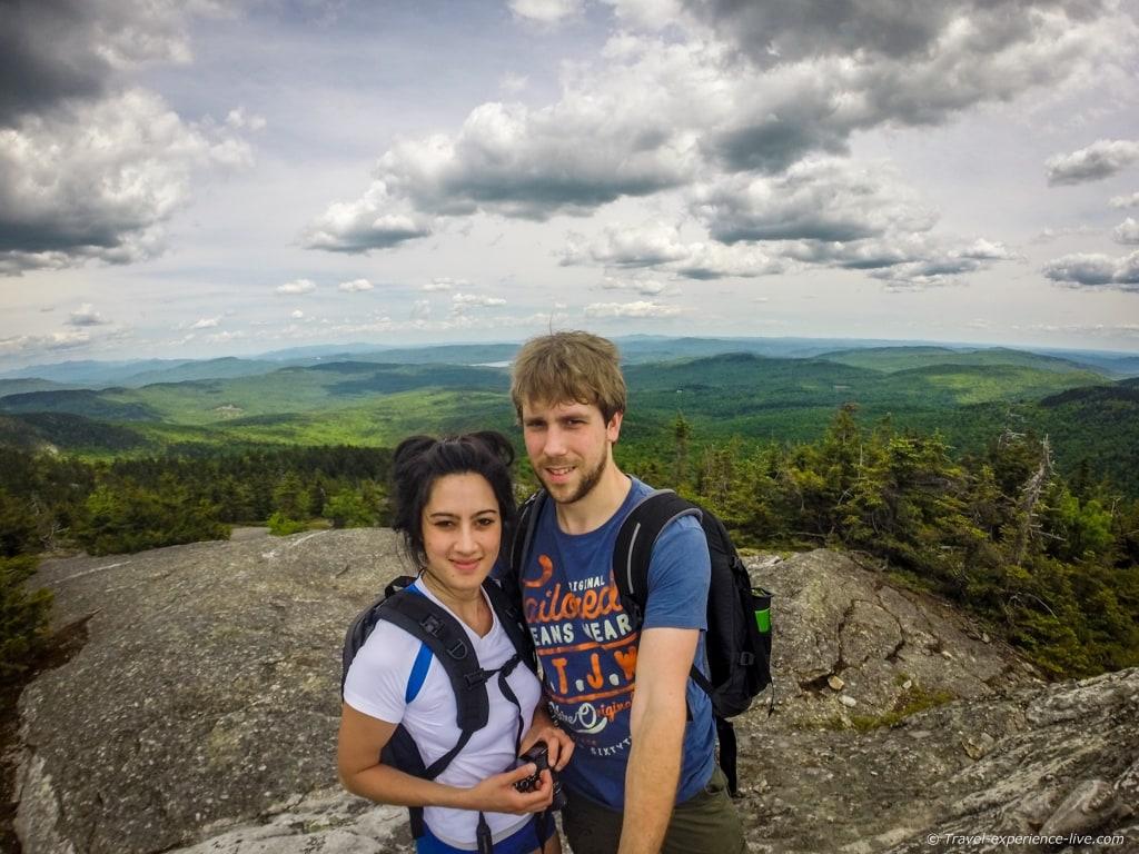 Bram and Caroline on Mt Cardigan, New Hampshire.