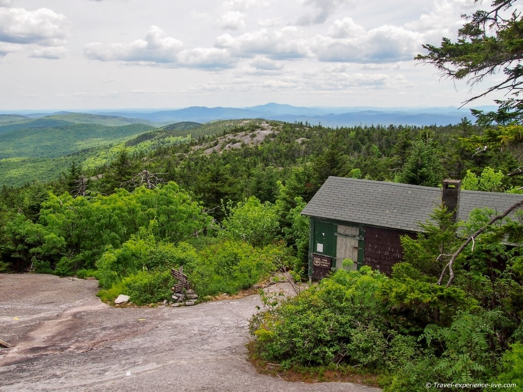 Shelter on Mount Cardigan.