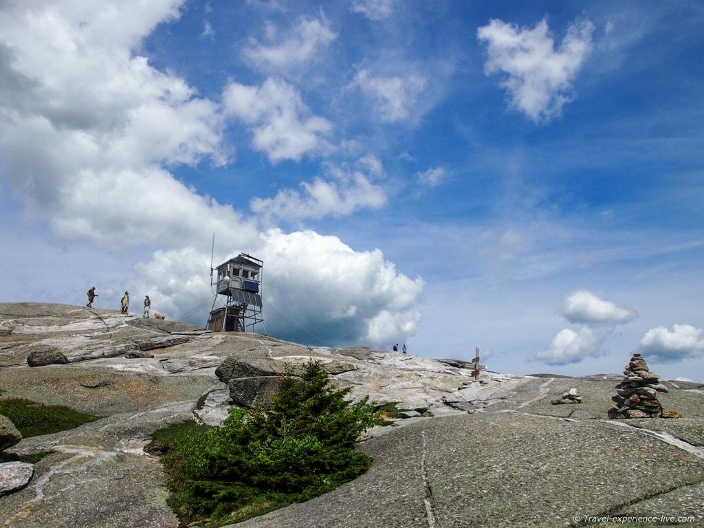 Summit of Mt Cardigan, NH.