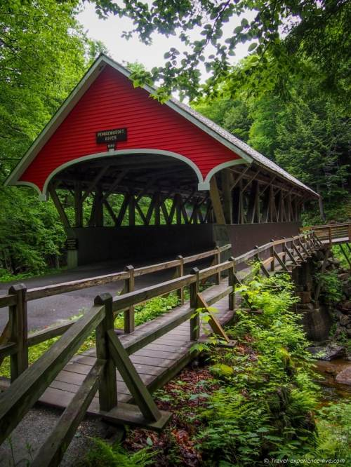 Covered bridge at The Flume, New Hampshire.