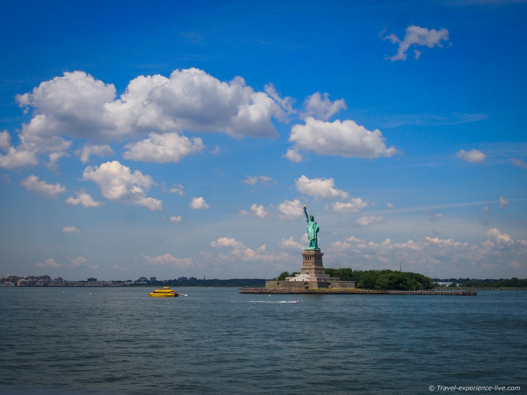Statue of Liberty from Staten Island ferry.