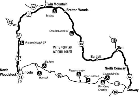 White Mountains Trail, New Hampshire.