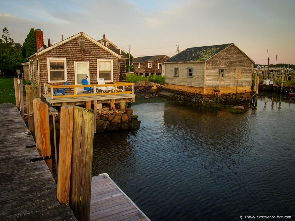 Houses in Westport Point, Massachusetts.