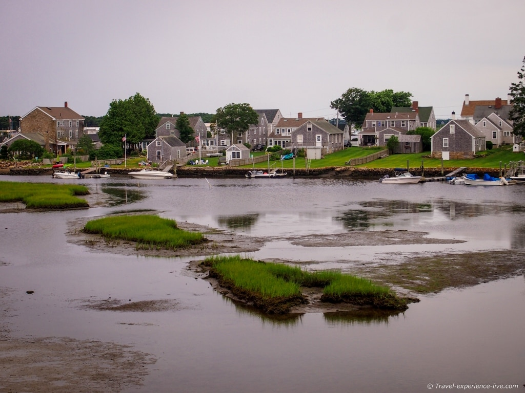 Houses of historic Westport Point.
