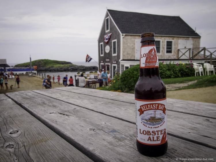 Lobster Ale on Monhegan Island, Maine.