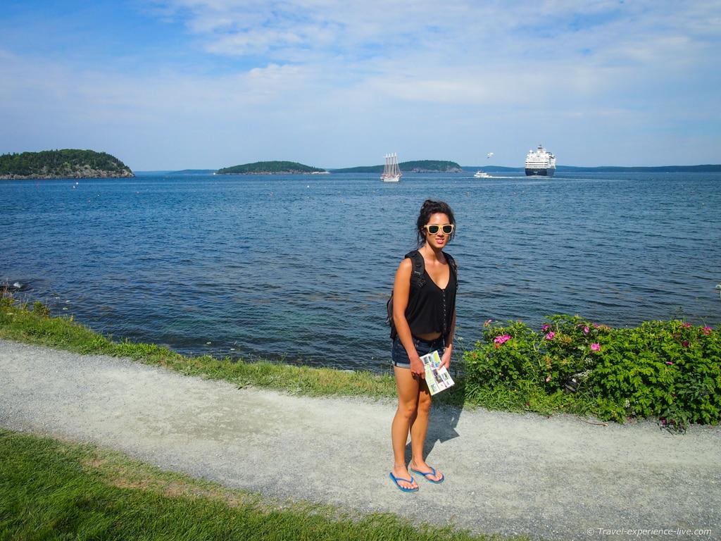 Shore Path in Bar Harbor, Maine.
