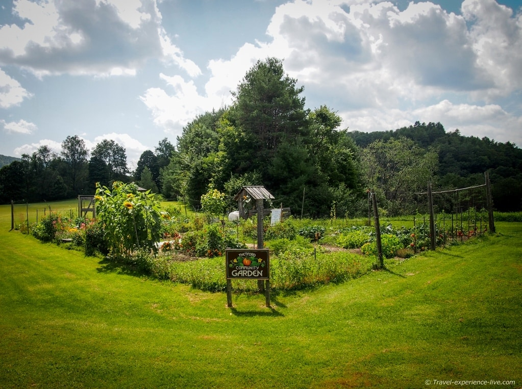 Community garden in Thetford Center, Vermont.