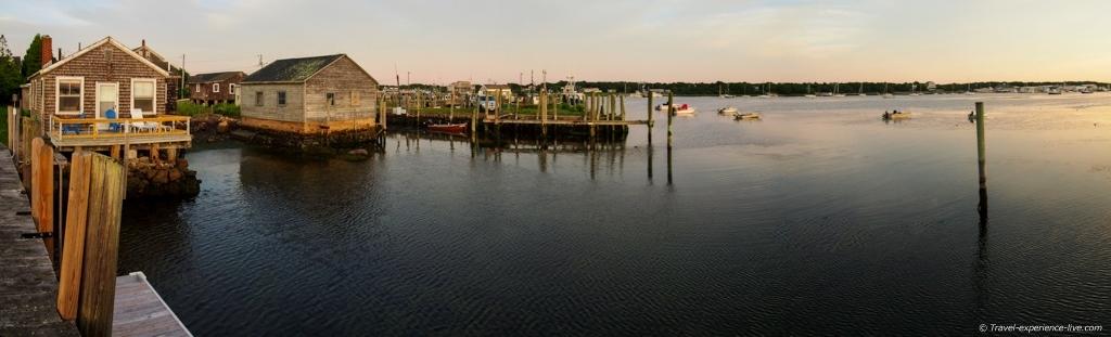 Westport Point harbor sunset.