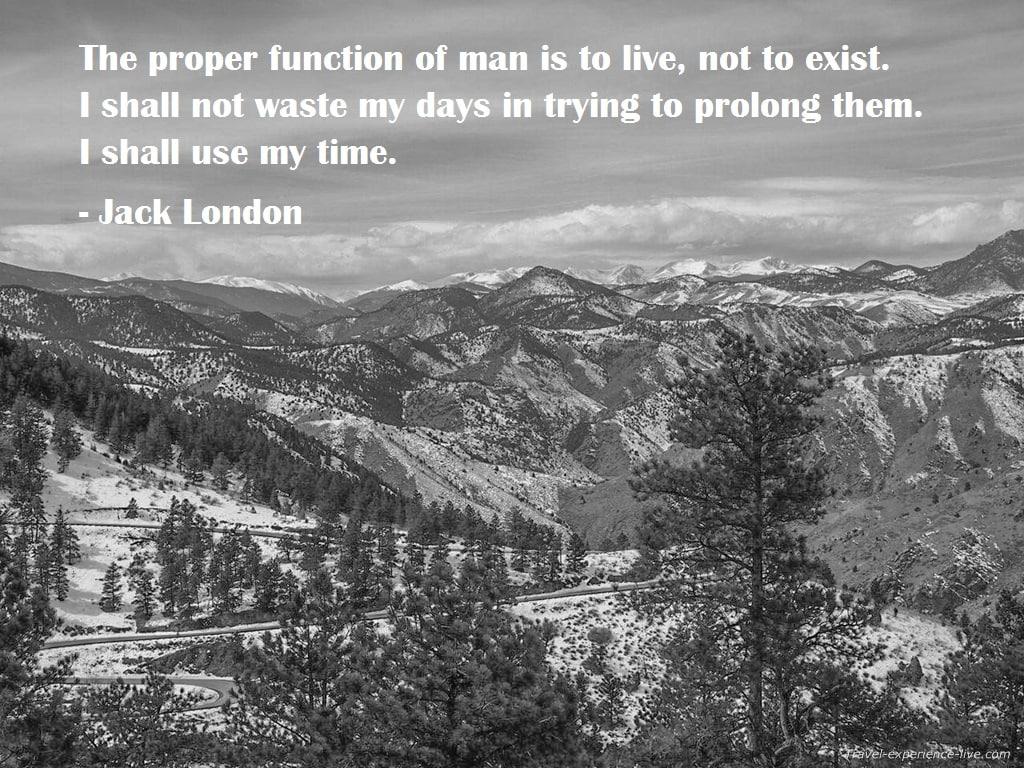 Jack London quote.