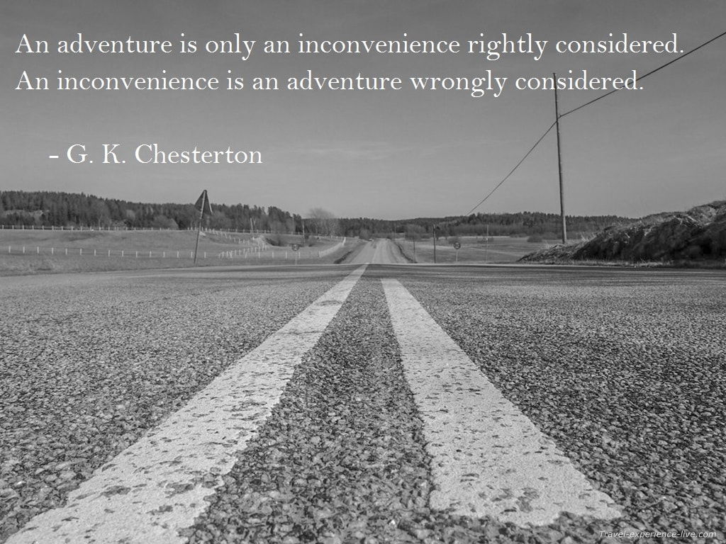 Travel Quote by G.K. Chesterton.