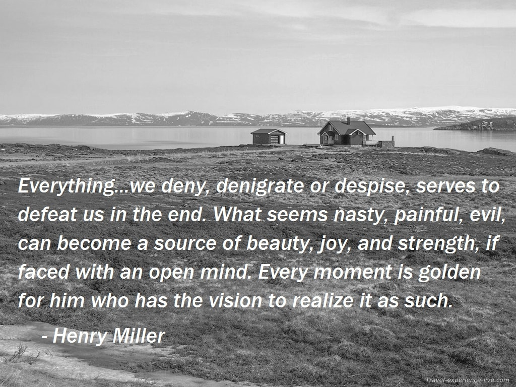 Life Quote by Henry Miller.
