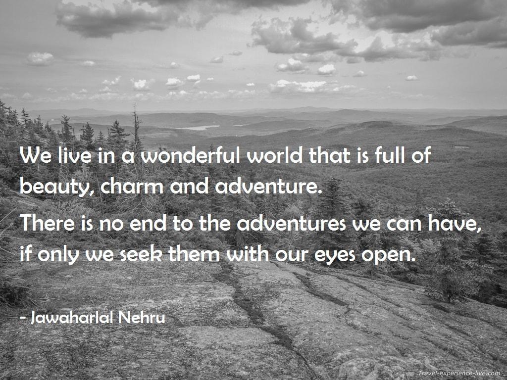 Travel Quote by Jawaharlal Nehru