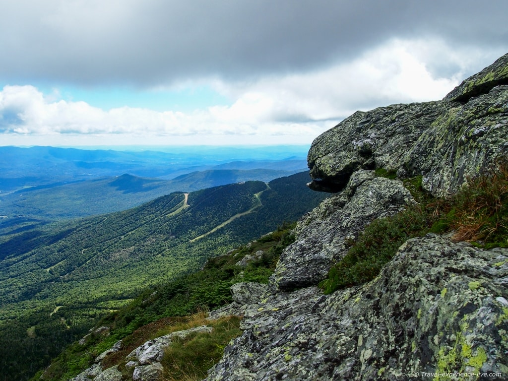 View from the summit of Mount Mansfield, Vermont.