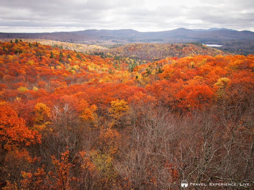 Fabulous fall landscape in New Hampshire