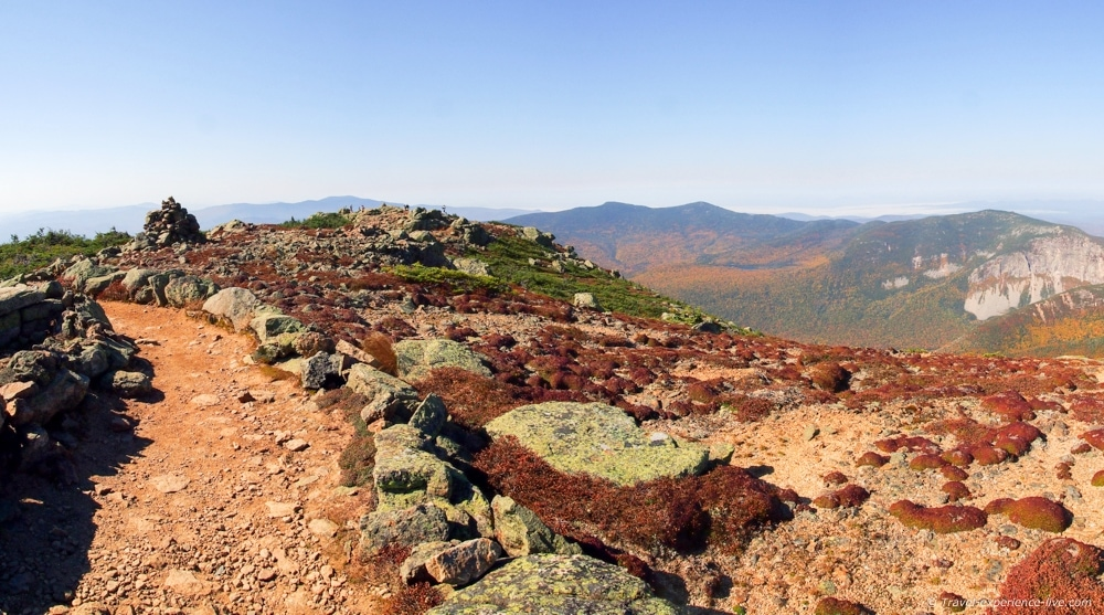 Franconia Ridge Trail from Little Haystack to Mount Lincoln.