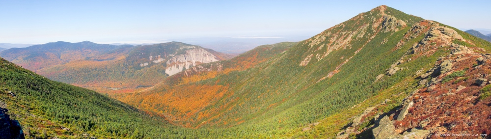 Panorama of Franconia Notch and Mount Lincoln.