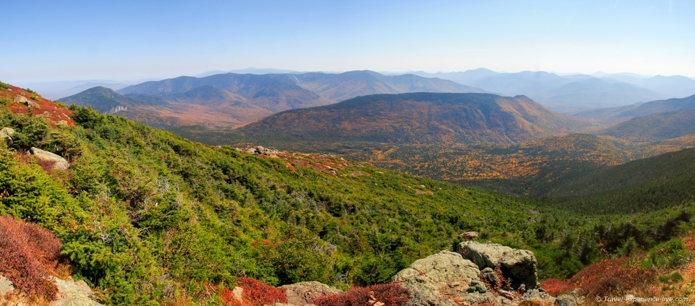 Panorama of the Presidential Range.