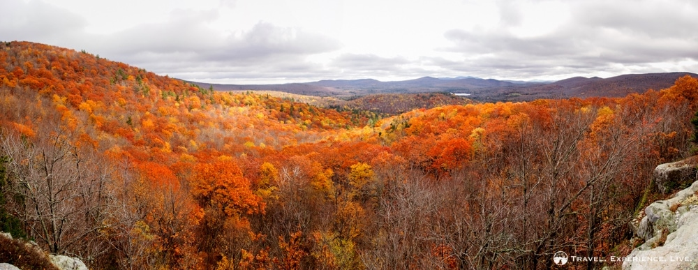 Hiking Smarts Mountain: Fall foliage view