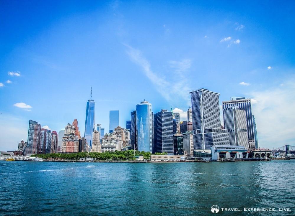 View of the Manhattan skyline
