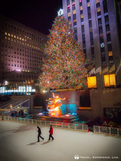 Christmas tree and ice skating rink at Rockefeller Center