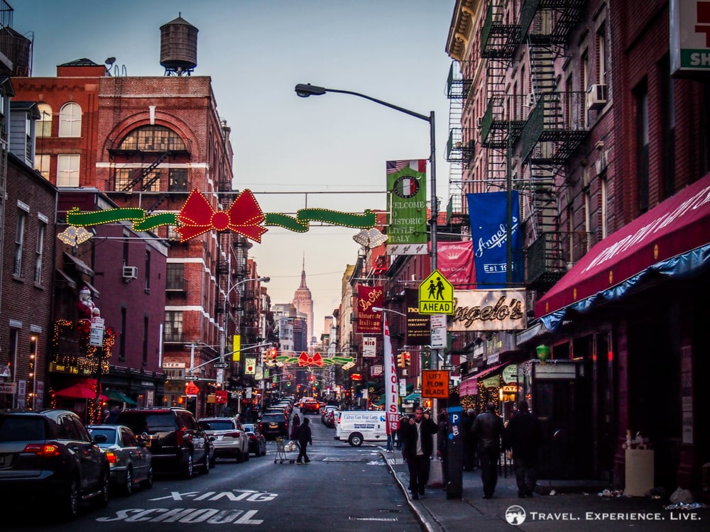 Empire State Building seen from Little Italy, New York City