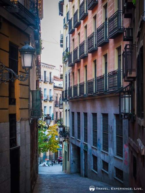 Alleyway and architecture in Madrid