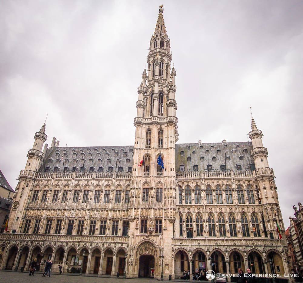 The Town Hall of Brussels, at the Grand Place