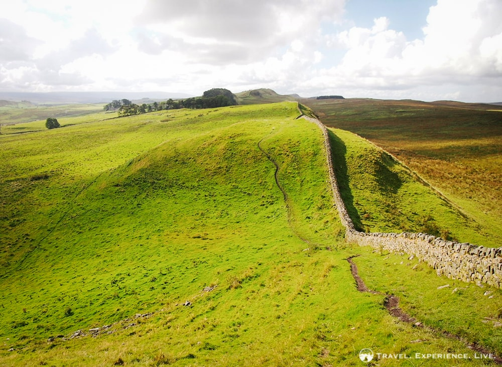 Stunning View of the Trail and Hadrian's Wall