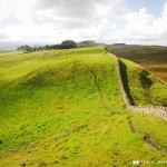Stunning view of Hadrian's Wall
