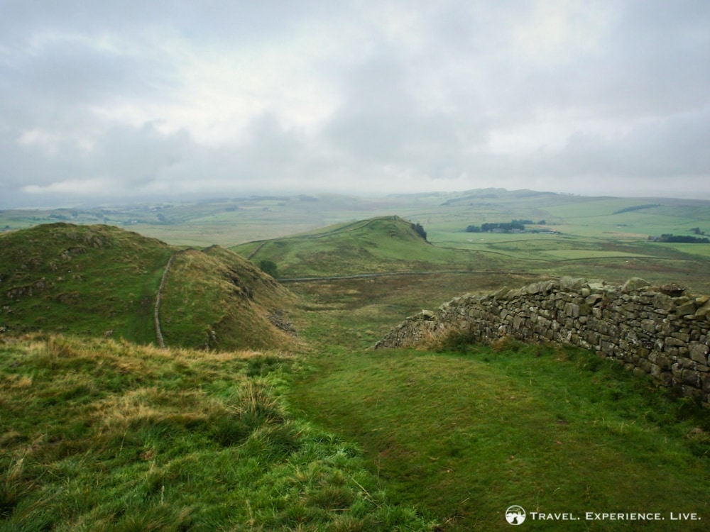 A misty morning on the Hadrian's Wall Path, Northumberland National Park