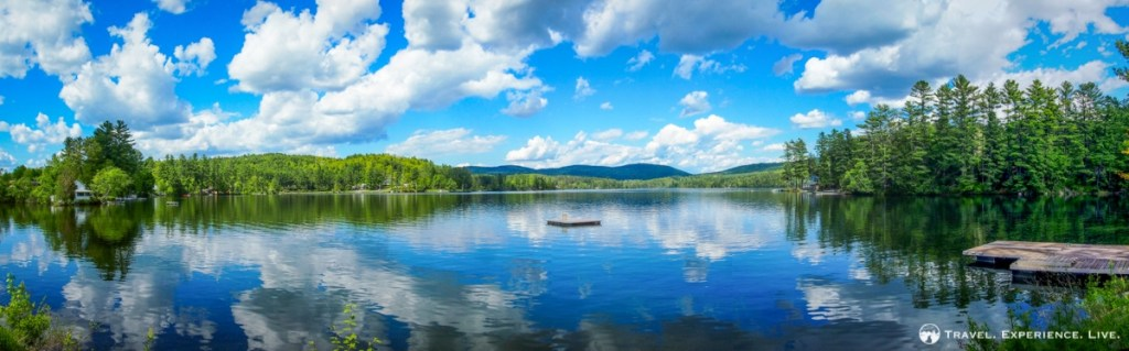 A beautifully sunny day at Lake Fairlee, Vermont