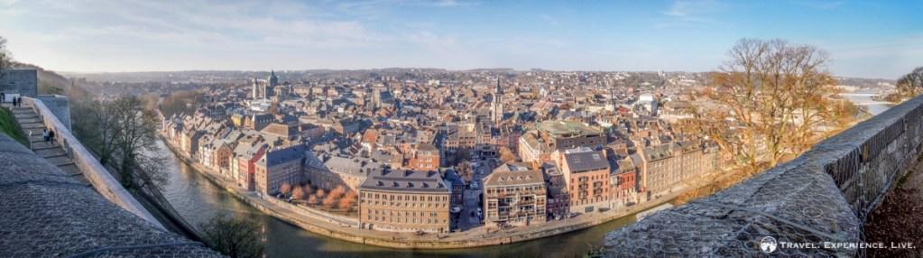 View of Namur from the Citadel, Belgium