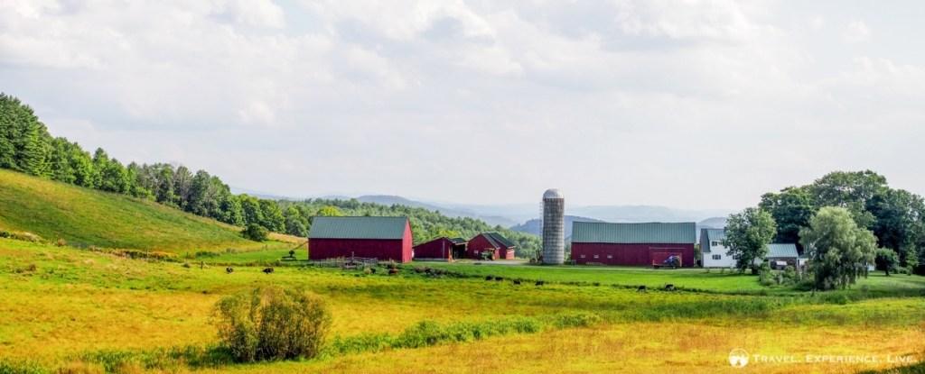 Farmstead in rural Vermont