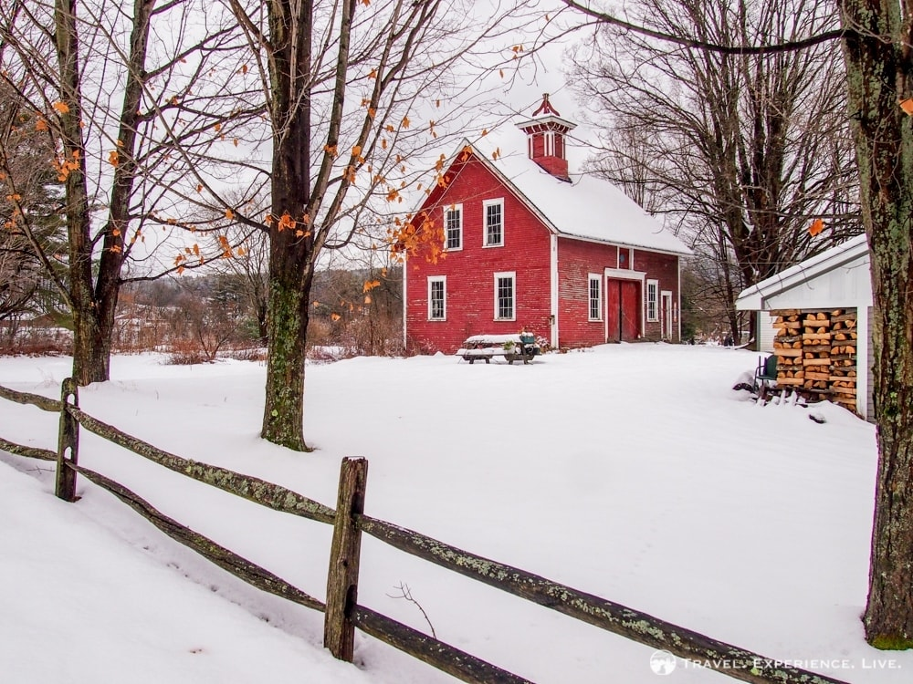 Typical red building in eastern Vermont