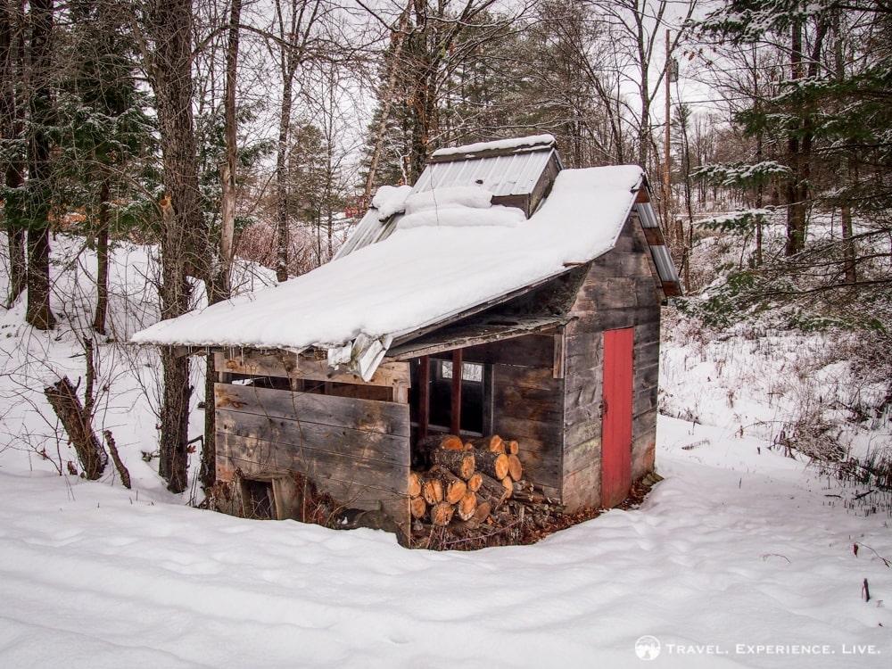 Firewood shack, Vermont