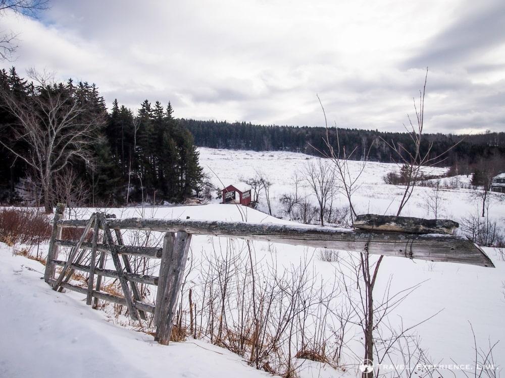 Winter landscape in rural Vermont
