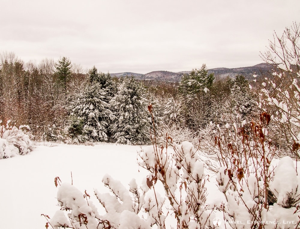 Snow-covered mountains, Vermont
