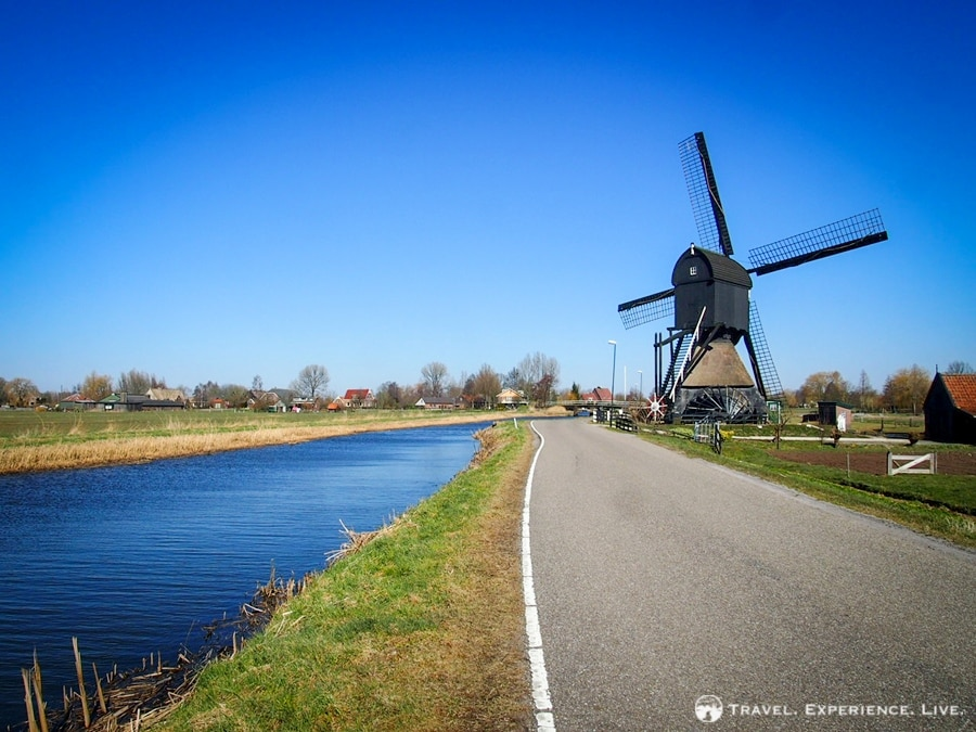 Canal and and windmill in the Netherlands
