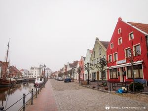 The pretty German town of Weener on a misty morning