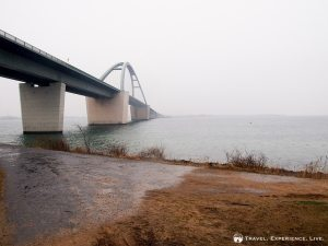 The Fehmarn Bridge on a cold and rainy afternoon