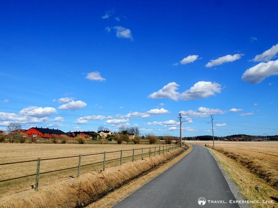 Quiet roads in rural Sweden
