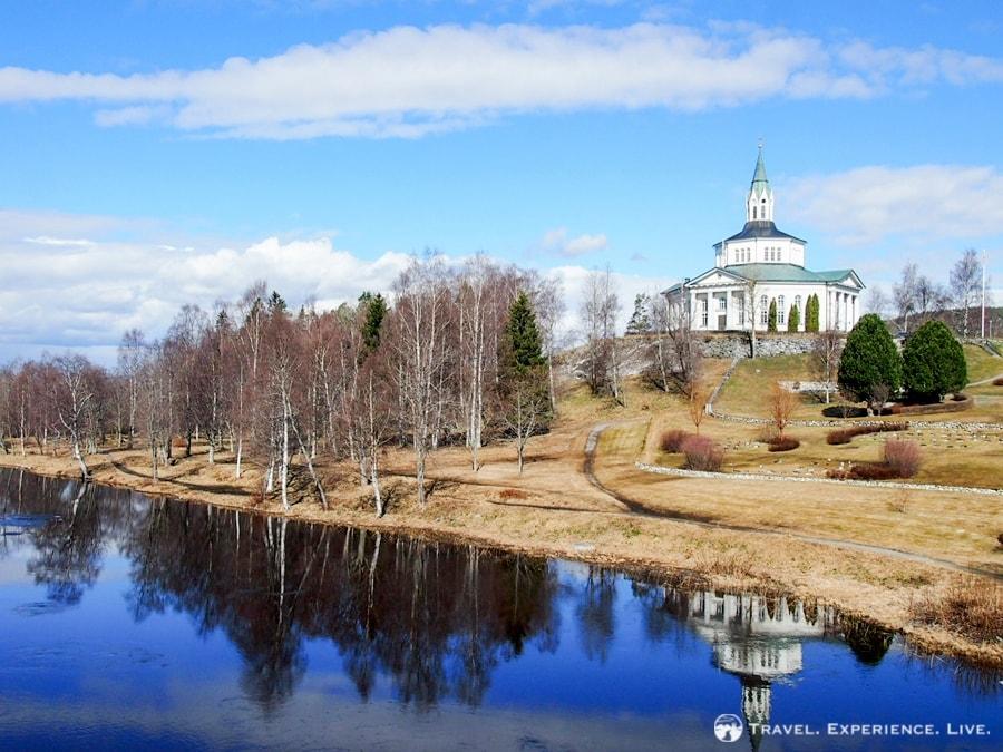 An octagonal church, Sweden