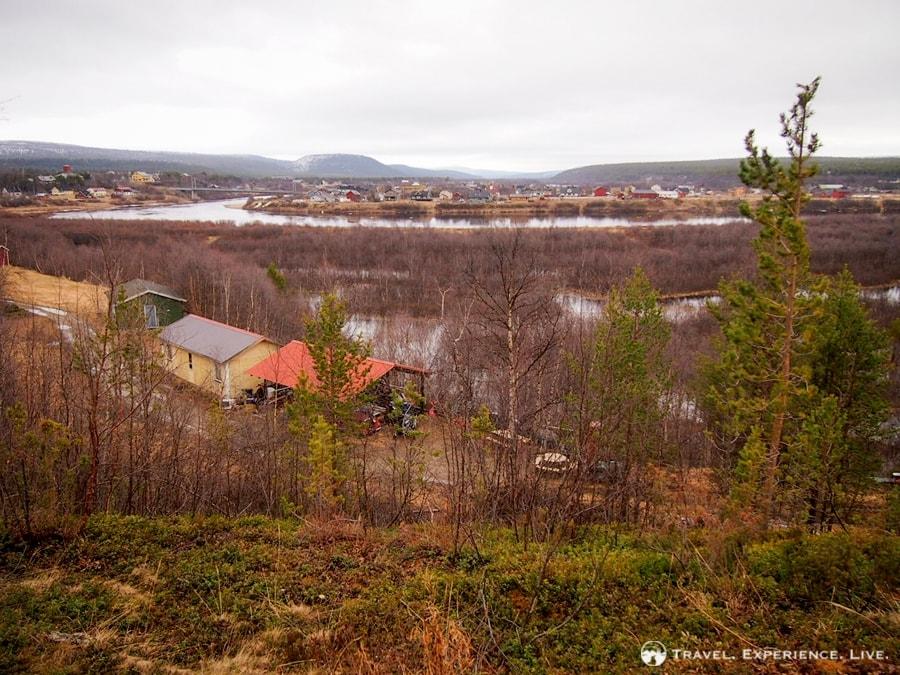 View from my cabin in Karasjok, Norway