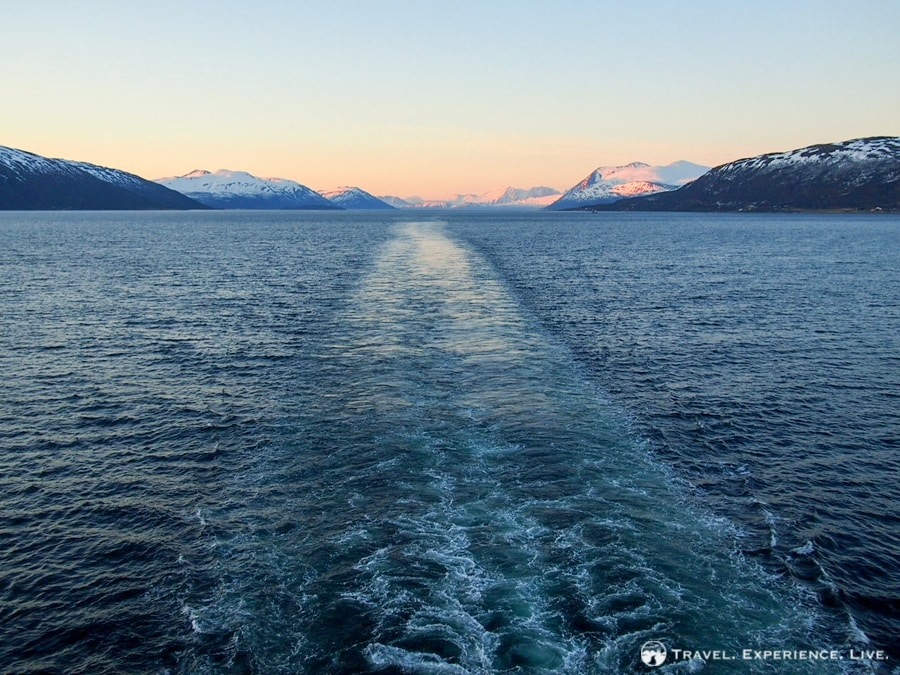 Steaming through Arctic waters