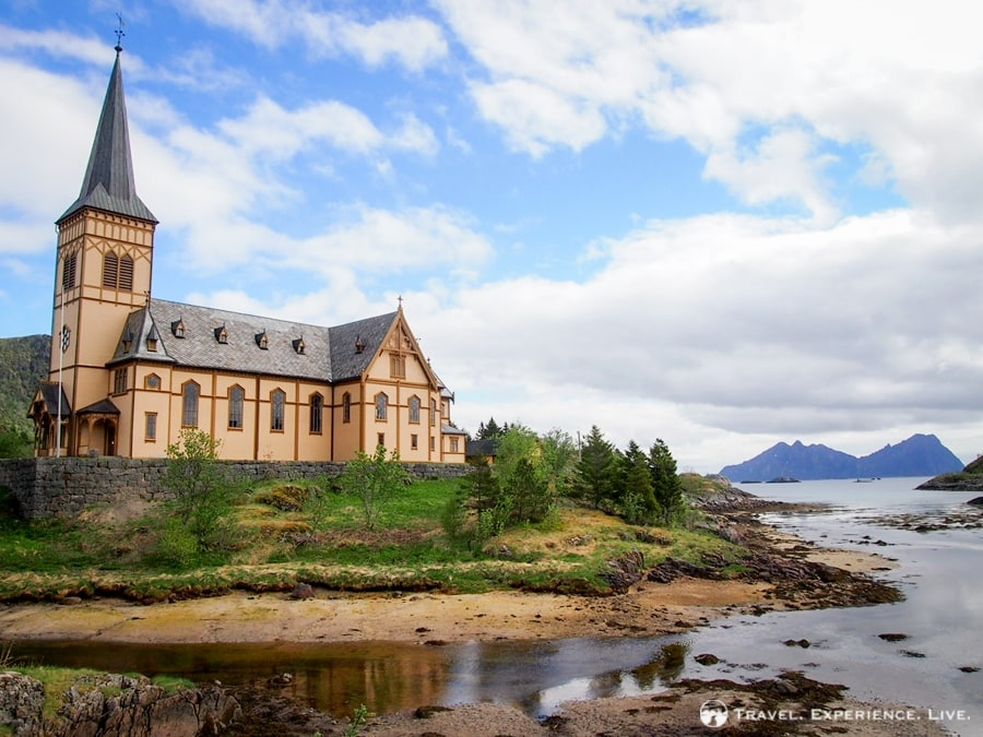 Gorgeous church in Svolvær, capital of the Lofoten Islands, Norway