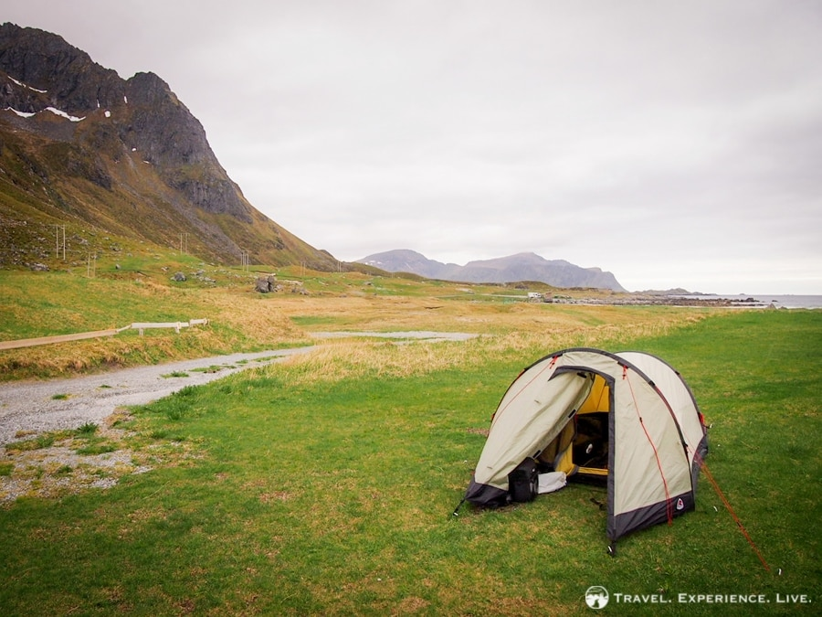 Camping on the Lofoten Islands - camping gear